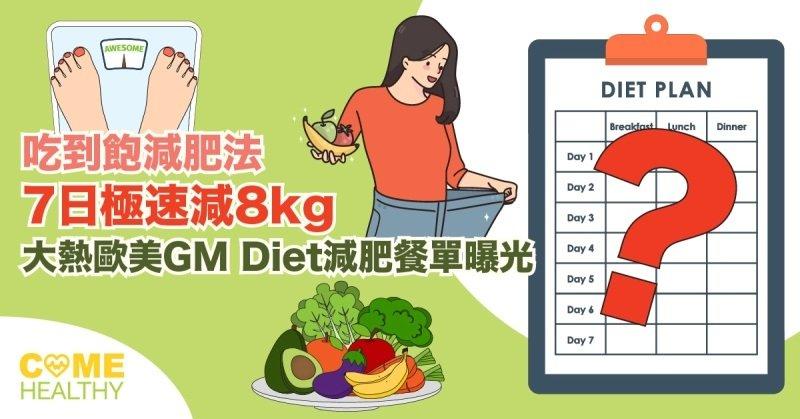 GM Diet吃到飽一周菜單
